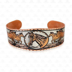 Copper Trophy Horse Bracelet