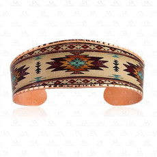 Wide Copper Southwest Bracelet