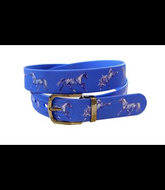 Blue Belt w/Horse Motif