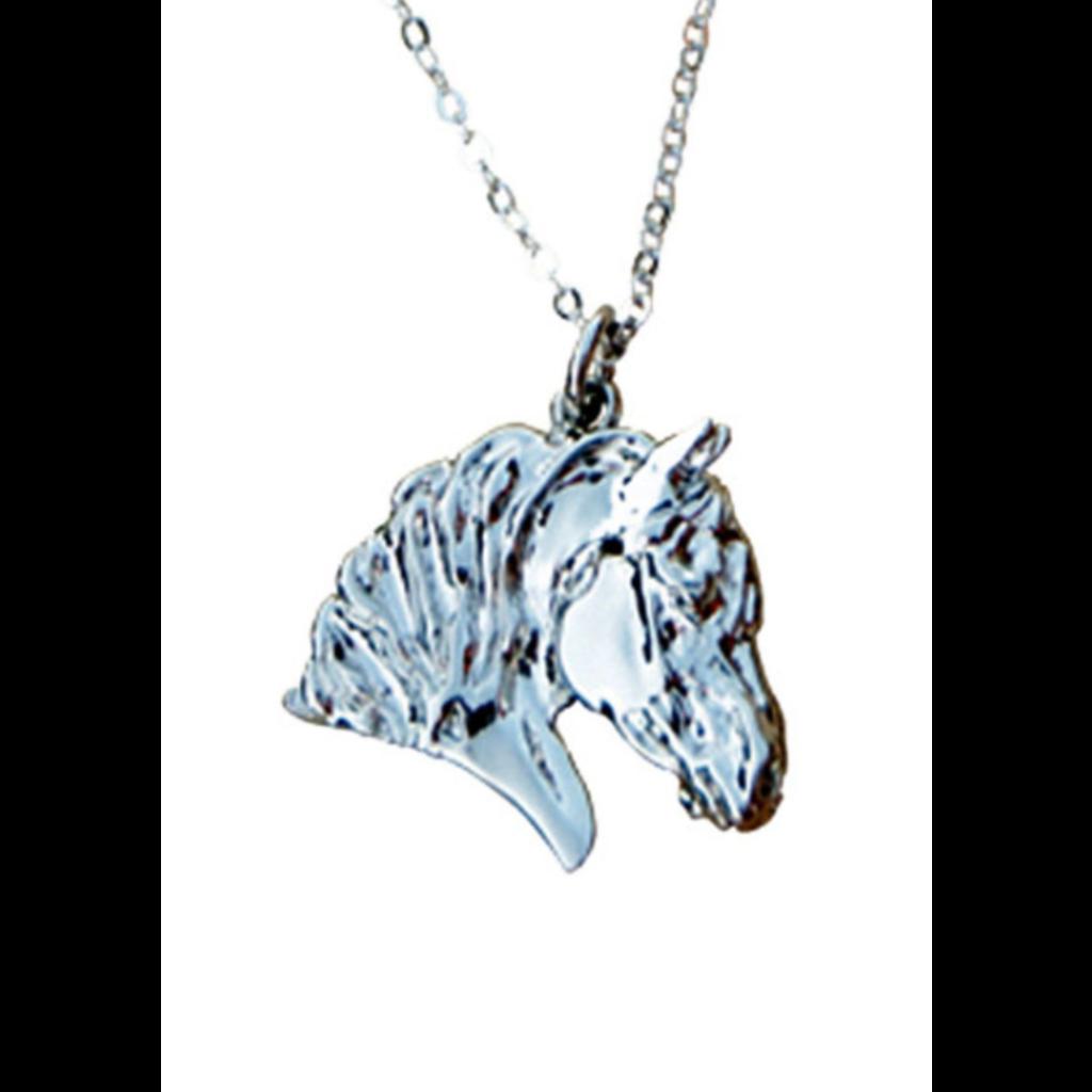 Draft Horse Head Pendant Platinum