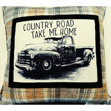 Beyond the Barn Country Road Decorative Pillow