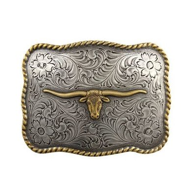 Longhorn Buckle Two Tone H8143