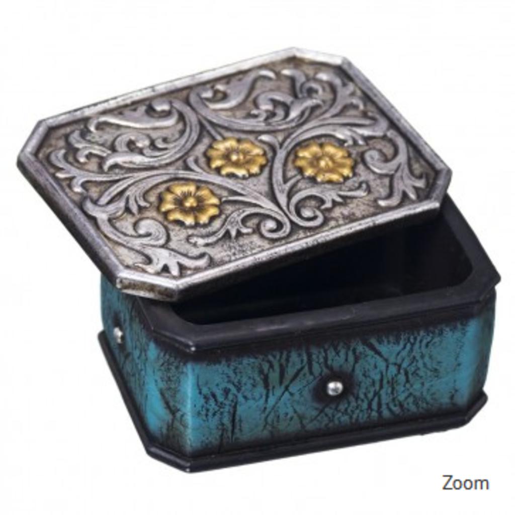 Silver/Turquoise Trinket Box