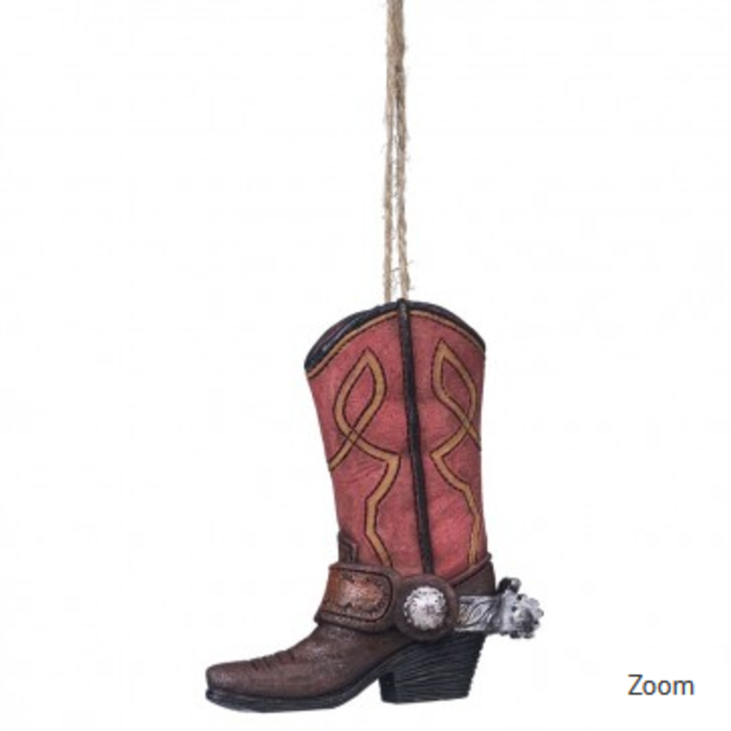 Red Boot Ornament