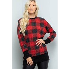 Buffalo Plaid Tunic Top