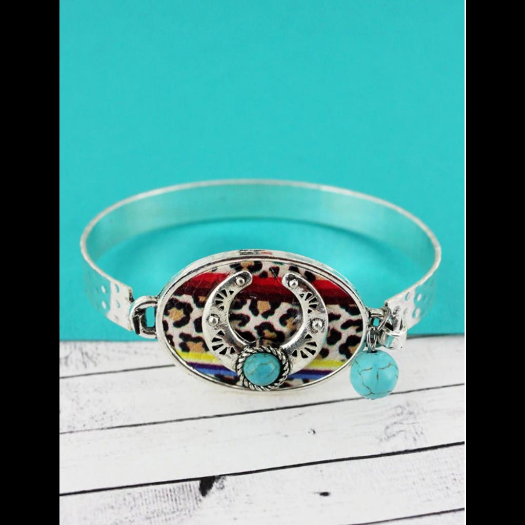 Oval Squash Blossom Disk Bracelet