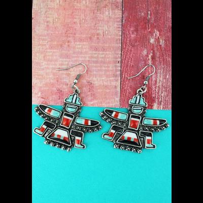 Navajo Nation Enamel Earrings