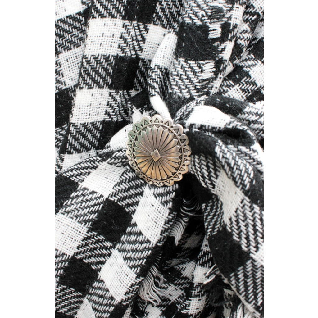 Oval Concho Scarf Slide