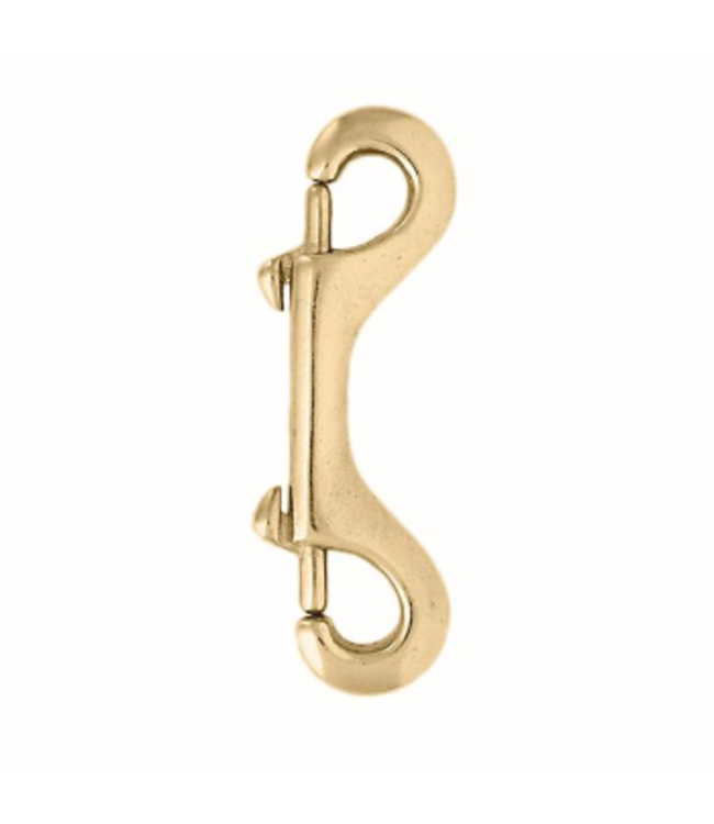 """Double End Snap Solid Brass 3 3/8"""""""