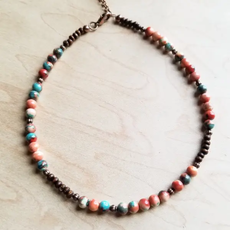 Multi-colored Turquoise Beaded Choker Necklace