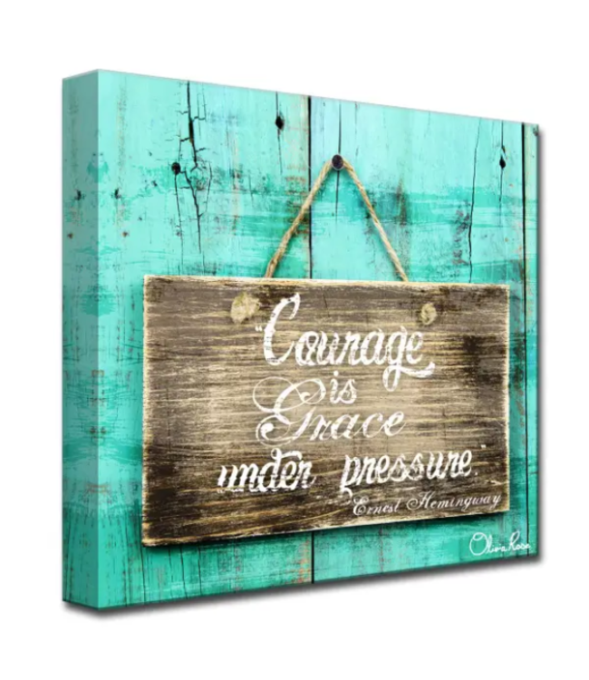 Courage is Grace by Olivia Rose Canvas Art 16x16