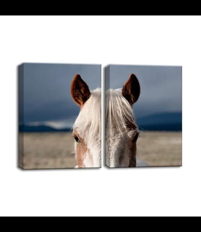 Horses 9006 by Bartlett Hayes Canvas Art Set 20x32