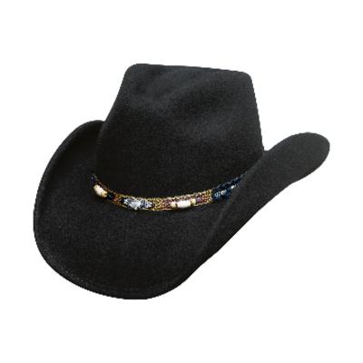 Smart Play Black Felt Hat