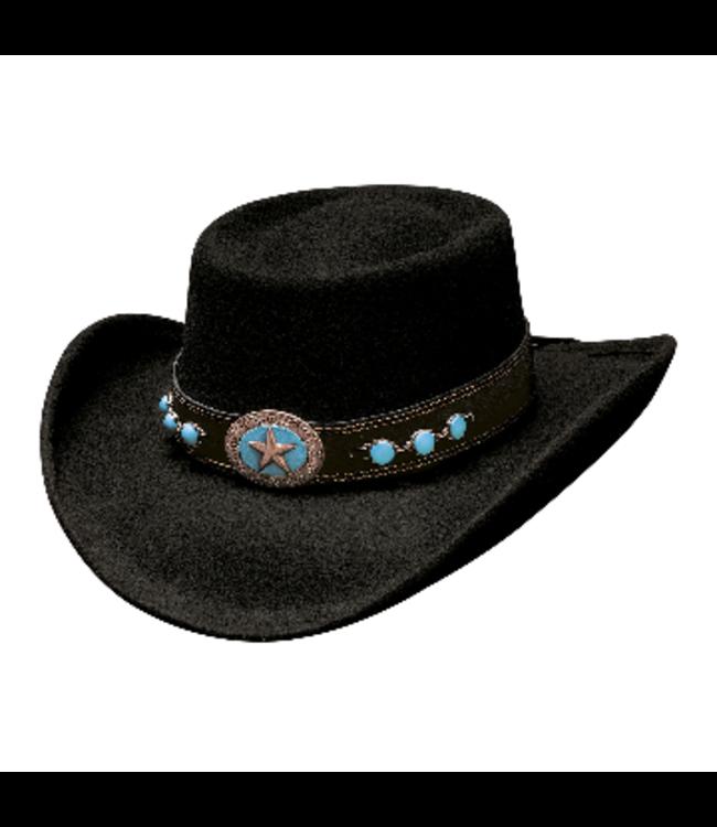 Bullhide Lucky 4 U Black Felt Hat