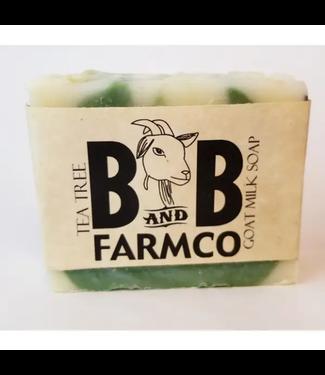 B&B FarmCo Tea Tree Goat Milk Soap
