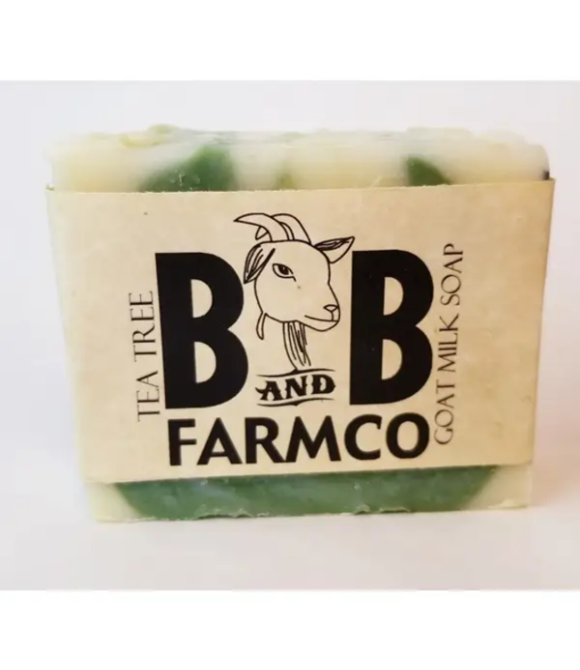 B&B FarmCo Tea Tree Goat Milk Soap