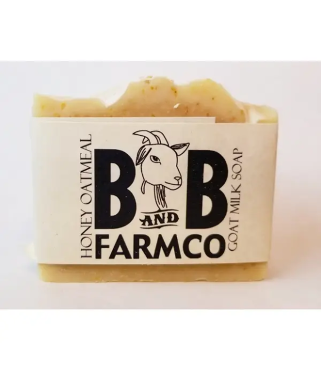 B&B FarmCo Honey Oatmeal Goat Milk Soap