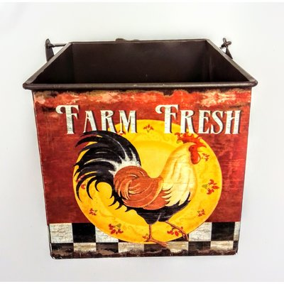 """Beyond the Barn Painted Farm Fresh Container 6""""x6"""""""