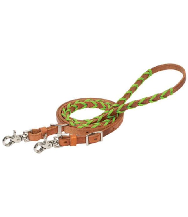 Weaver Poly Laced Leather Barrel Rein