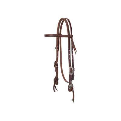 Weaver Working Tack Floral Hardware Headstall