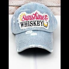 Distressed Light Denim 'Sunshine & Whiskey' Cap