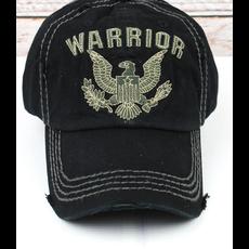 Distressed Black 'Warrior' Eagle Cap