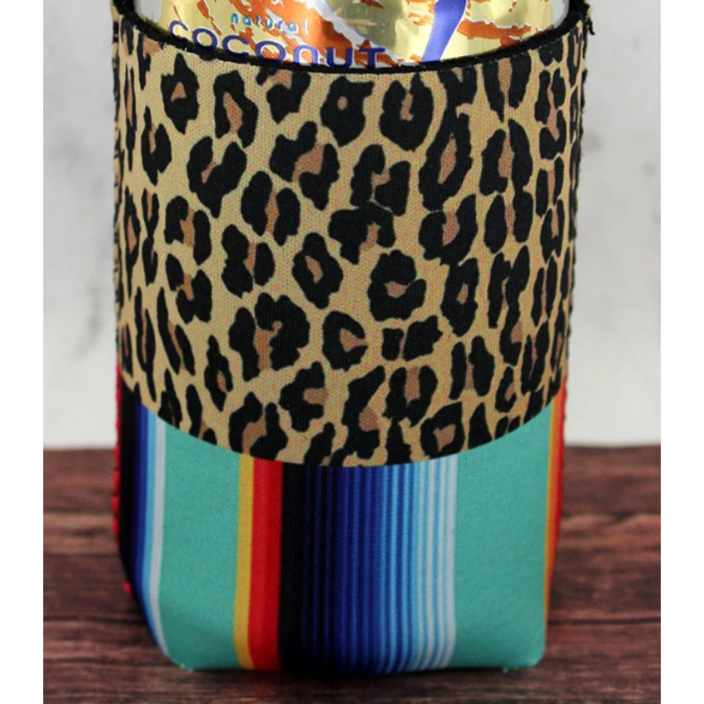 Leopard and Mint Serape Drink Sleeve