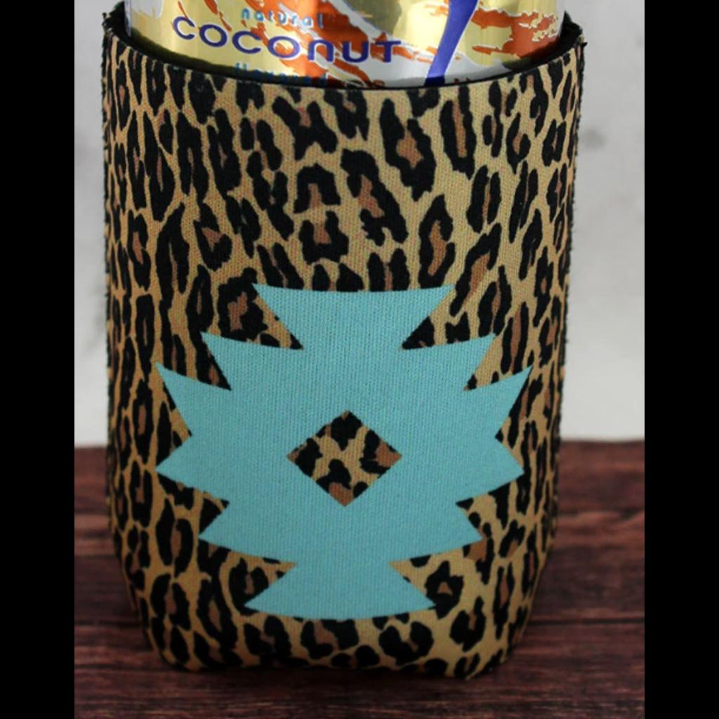 Mint Navajo Star Leopard Drink Sleeve