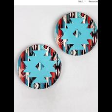 2 Piece Mint Navajo Star Sonoran Sky Car Coaster Set