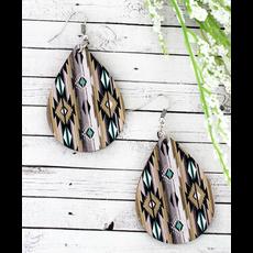 Sonoran Sand Teardrop Wood Earrings