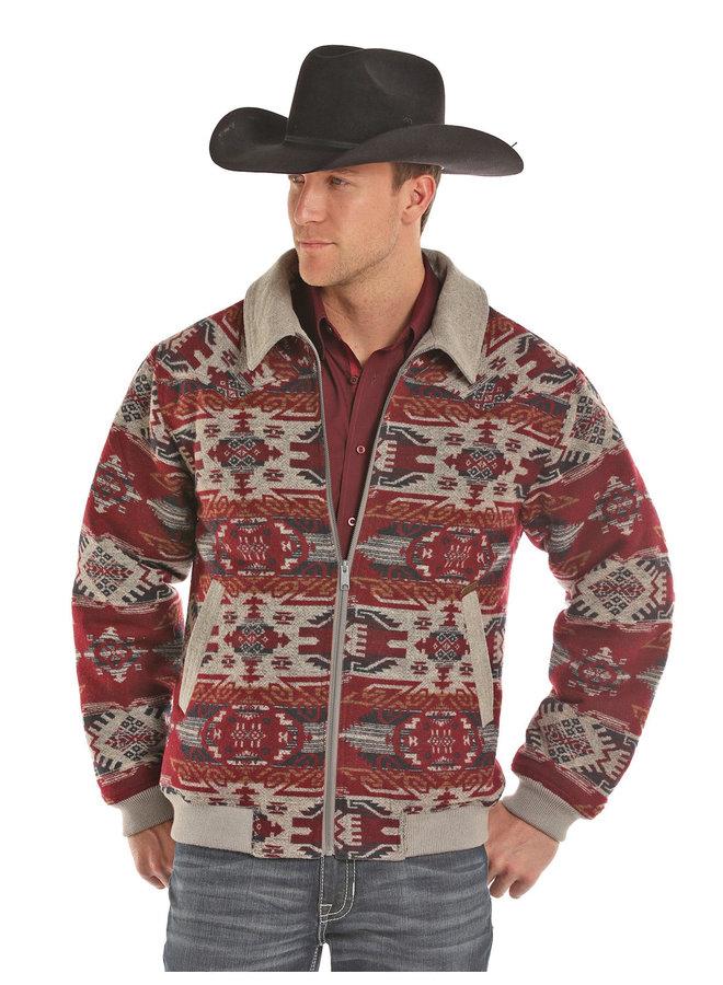 15 Men's Aztec Print Wool Jacket