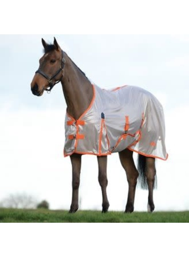 05 Saxon Mesh Fly Sheet with Belly Wrap Standard Neck
