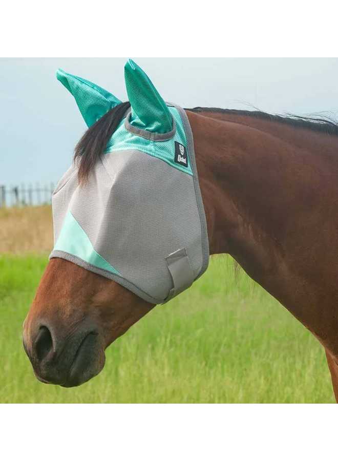 Patterned Crusader Fly Mask STD w/Ears