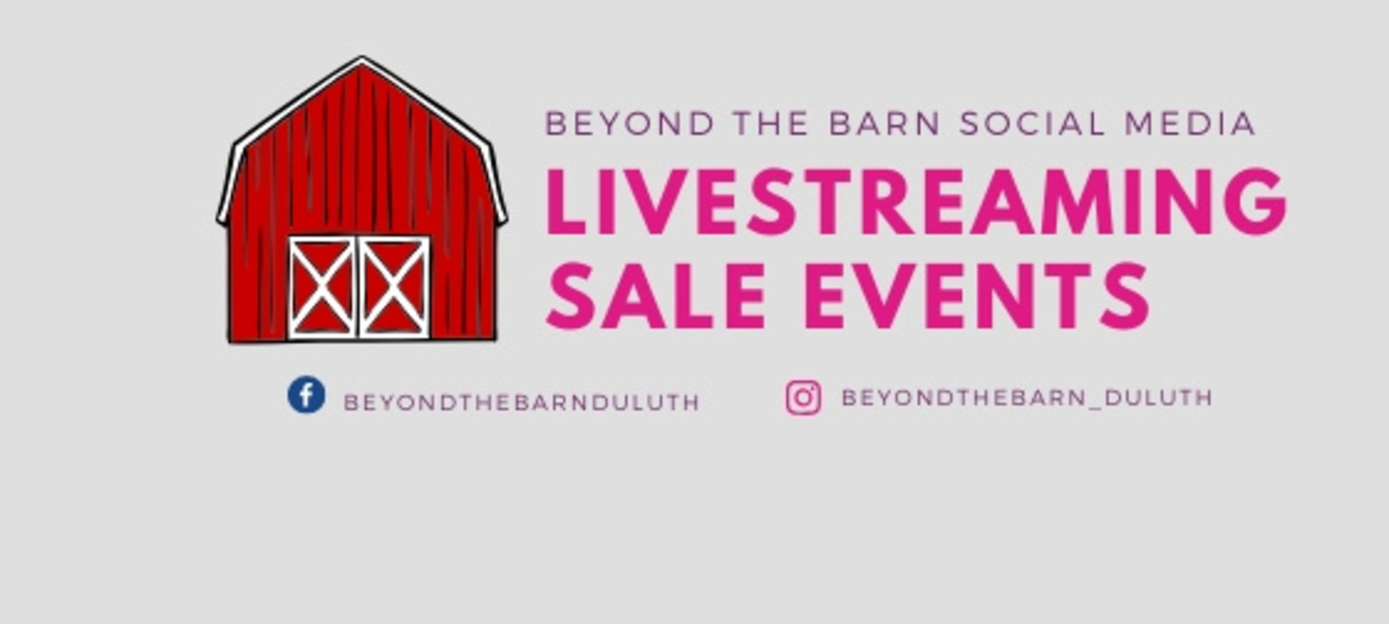 Social Media Sales and other virtual events from Beyond the Barn