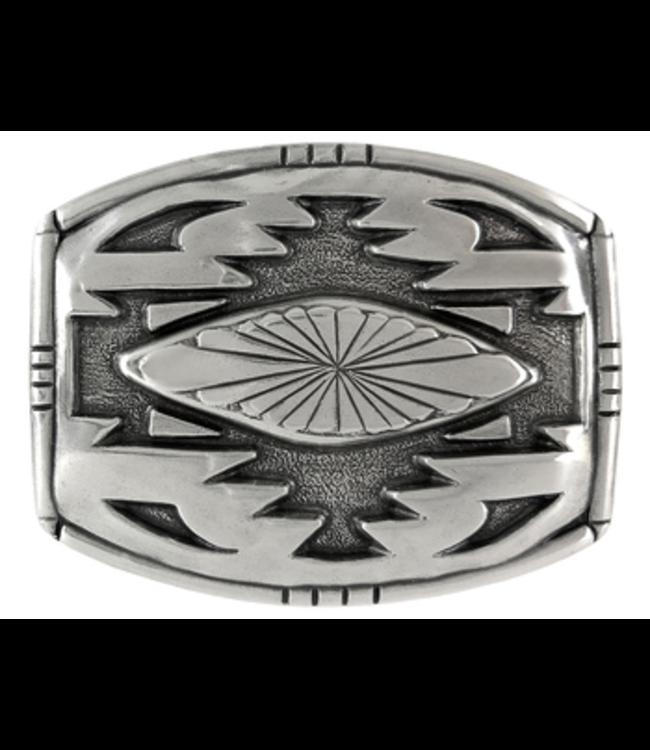 H8142 LASRP Southwestern Sterling Silver Plated Belt Buckle