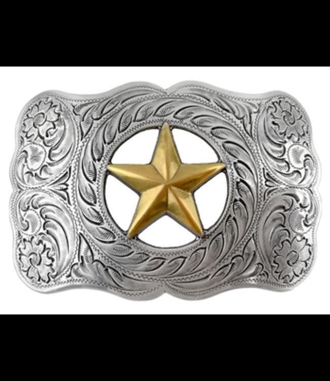 H8459 ASAG Texas Gold Star Western Ranger Belt Buckle
