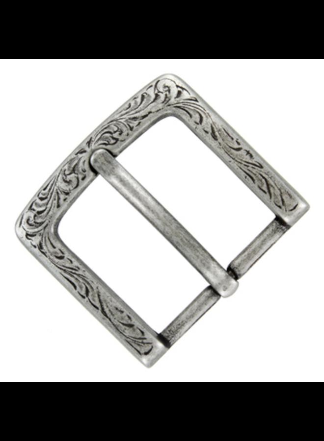 """P3983 Western Floral Engraved Antique Silver Belt Buckle fit's 1-1/2"""" (38mm) wide Belt"""