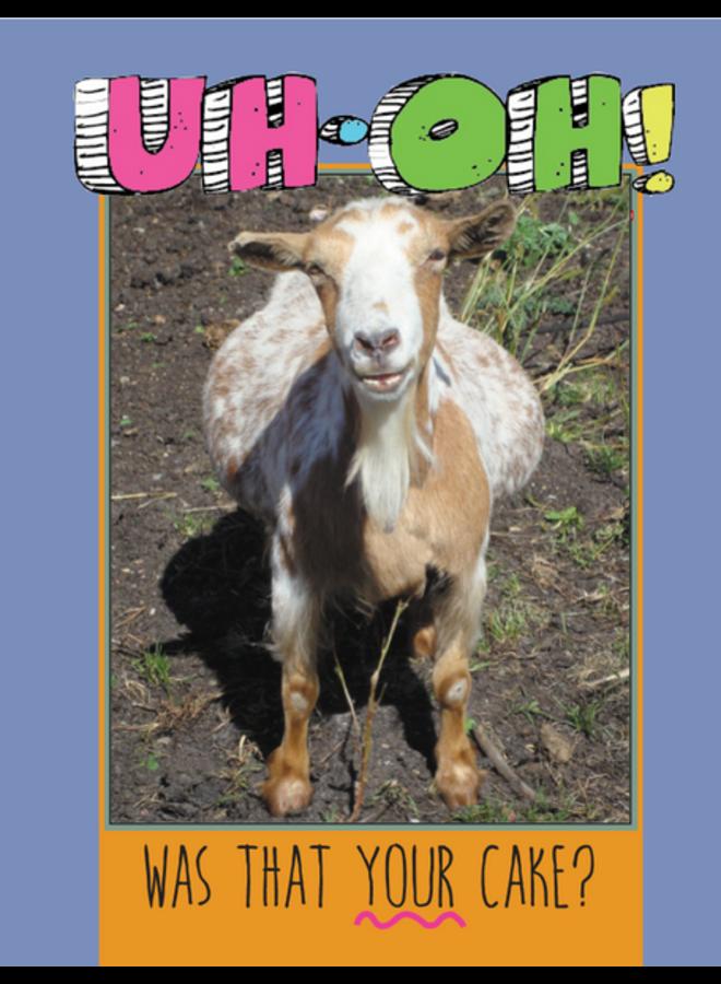 Horse Hollow Birthday Card Goat Eat Cake