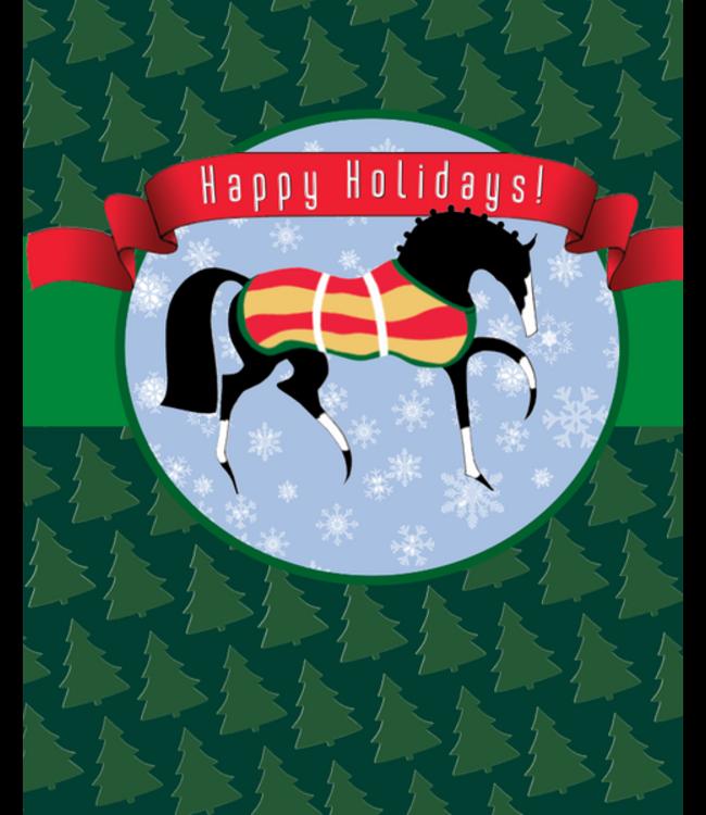 Horse Hollow Holiday Card Stylized Xmas Horse