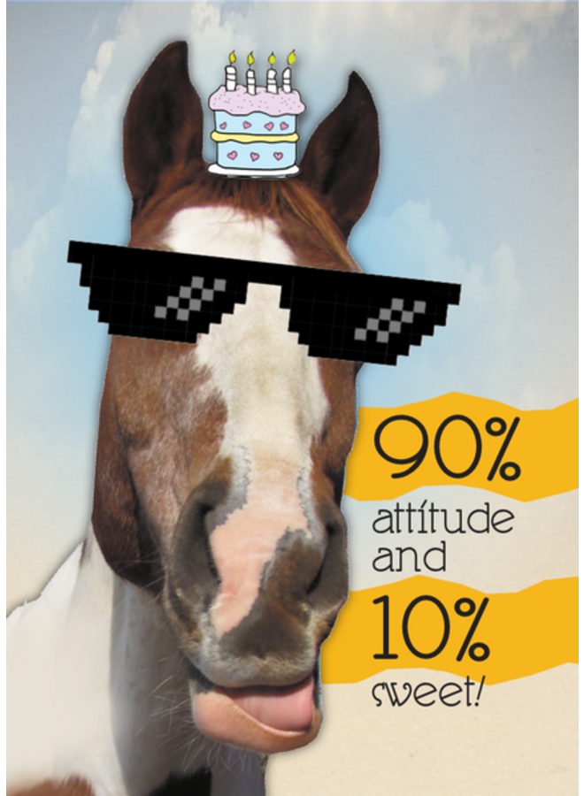 Horse Hollow Birthday Card 100% Cool