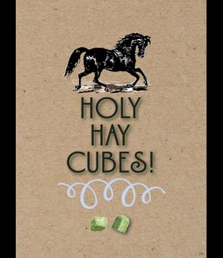 Horse Hollow Birthday Card Holy Hay Cubes