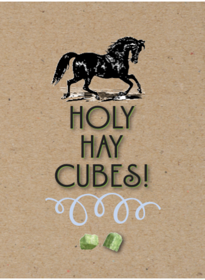 Horse Hollow Birthday Card Holy Hay Cubes