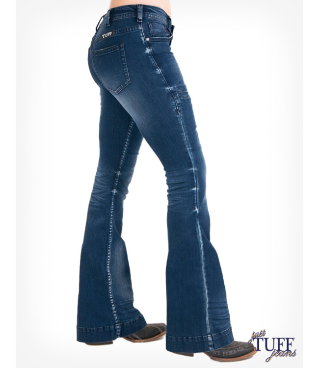 Cowgirl Tuff Just Tuff Vintage Blue Trouser