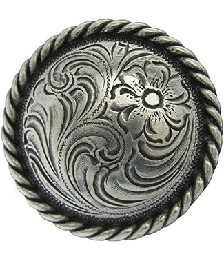 """Tandy 4"""" Antiqued Silver Concho"""