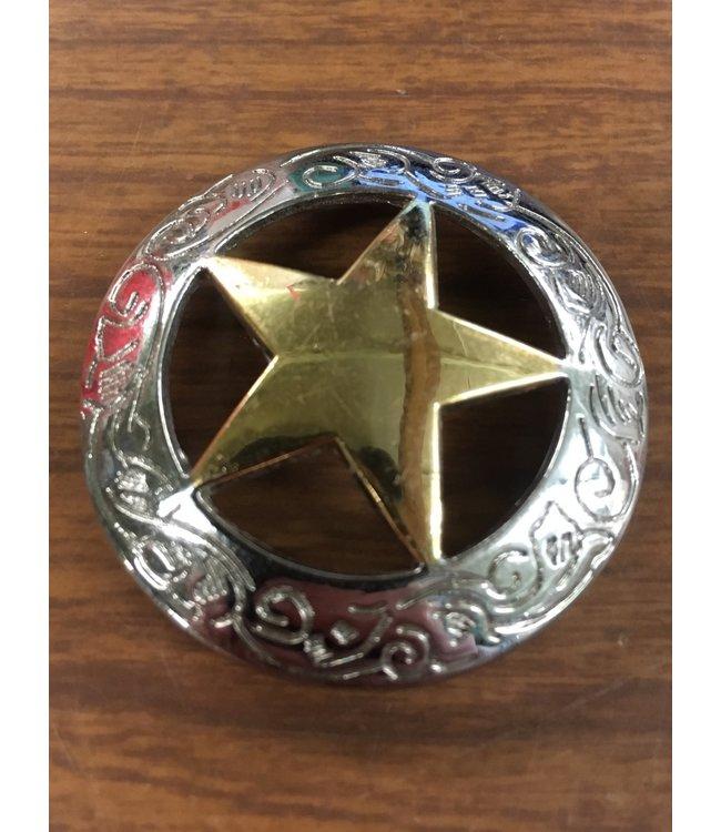 "Weaver 1 1/2"" Sheriff Star Concho"
