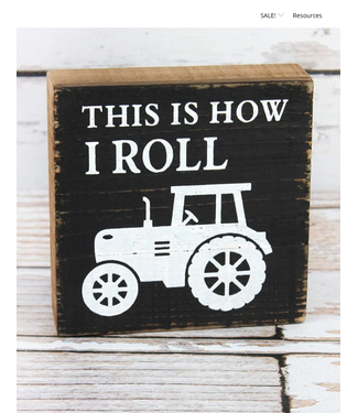 Tractor Art Wood Box Sign This is How I Roll
