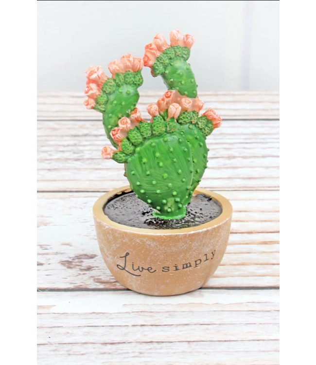 Live Simply Resin Cactus
