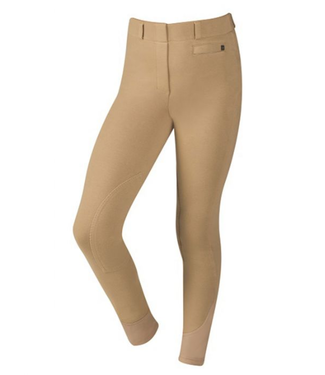 Dublin Supa-Fit Pull On Knee Patch Childs Breeches Beige
