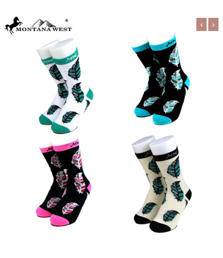 SK-008 Montana West Feather Collection Sock Assorted Color