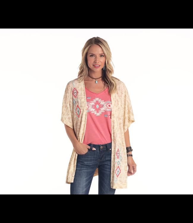Panhandle Slim Ladies Aztec Print Kimono
